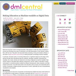 Making Education as Machine-readable as Digital Data