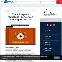 FUN - Éducation par la recherche : conversion numérique à l'École