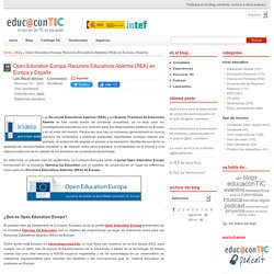 Open Education Europa, Recursos Educativos Abiertos (REA) en Europa y España