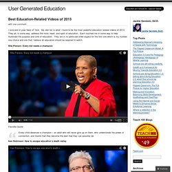 Best Education-Related Videos of 2013