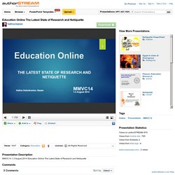 Education Online the Latest State of Research And Netiquette