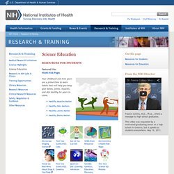 Science Education - Research & Training - NIH