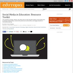 Social Media in Education: Resource Toolkit