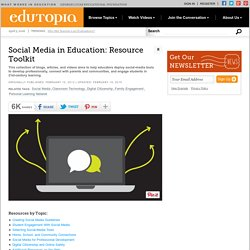 Social Media in Education: Resource Roundup