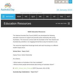 Education Resources ‐ Australia Day