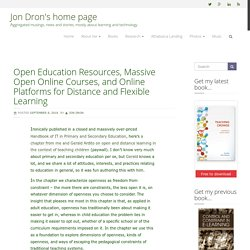 Open Education Resources, Massive Open Online Courses, and Online Platforms for Distance and Flexible Learning – Jon Dron's home page