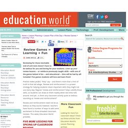 Education World: Review Games = Learning + Fun