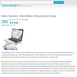 Digital Education - iSlate Makes a Revolutionary Change