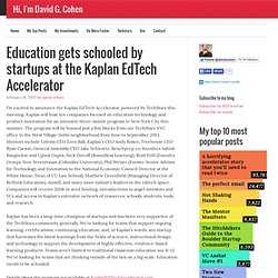 Education gets schooled by startups at the Kaplan EdTech Accelerator