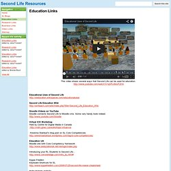 Education Links - Second Life Resources