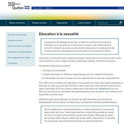 Ministère de l'Éducation- Éducation à la sexualité