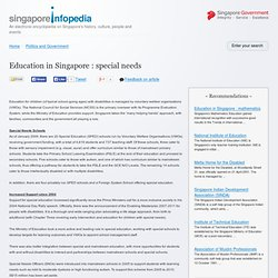 Education in Singapore : special needs