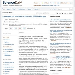 Low wages not education to blame for STEM skills gap