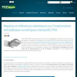 Repères et références statistiques sur l'implantation des tableaux numériques interactifs (TNI)
