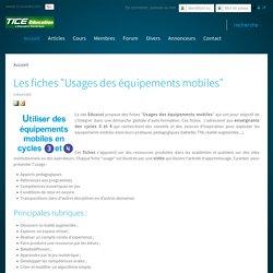 """Les fiches """"Usages des équipements mobiles"""" C3 et C4"""