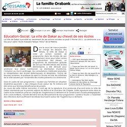 Education-Social: La ville de Dakar au chevet de ses écoles