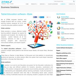 Tablet Education Software Solutions iSlate - ZITIMA