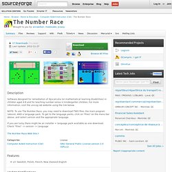 The Number Race | Free Home & Education software downloads at SourceForge