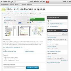 eLML - eLesson Markup Language | Get eLML - eLesson Markup Language at SourceForge