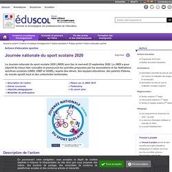 Actions d'éducation sportive - Journée nationale du sport scolaire