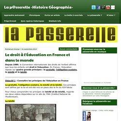 Le droit à l'éducation en France et dans le monde - La p@sserelle -Histoire Géographie-