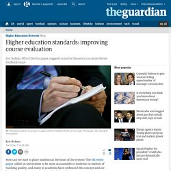 Higher education standards: improving course evaluation