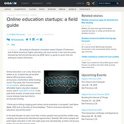 Online education startups: a field guide