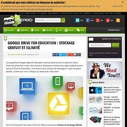 Google Drive for Education : stockage gratuit et illimité
