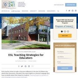 ESL Education: Strategies for Teaching English Language Learners