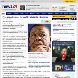 Free education not for wealthy students - Nzimande