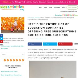 Here's The Entire List of Education Companies Offering Free Subscriptions Due to School Closings