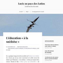 L'éducation «à la suédoise» – Lucie au pays des Lutins