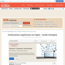 L'éducation supérieure en ligne: mode d'emploi