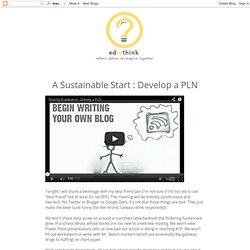 A Sustainable Start : Develop a PLN