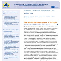 The Adult Education System in Portugal