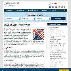 UK vs. USA Education System