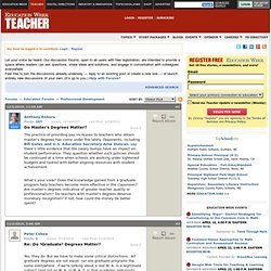 Teacher Magazine: Community Forums