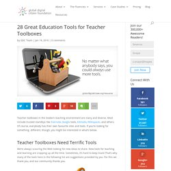 28 Great Education Tools for Teacher Toolboxes