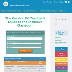 Support and Advice for General Education Teachers on Inclusion
