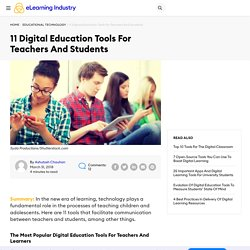 11 Digital Education Tools For Teachers And Students