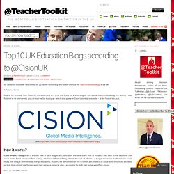 Top 10 UK Education Blogs according to @CisionUK