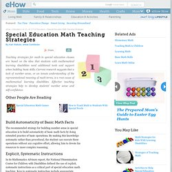 Special Education Math Teaching Strategies