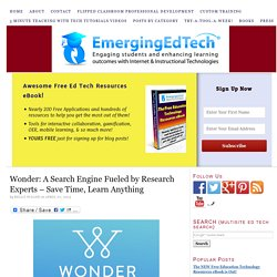 Wonder: A Search Engine Fueled by Research Experts – Save Time, Learn Anything