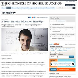 A Boom Time for Education Start-Ups - Technology