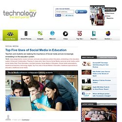 Top Five Uses of Social Media in Education