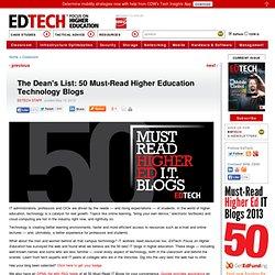 The Dean's List: 50 Must-Read Higher Education Technology Blogs