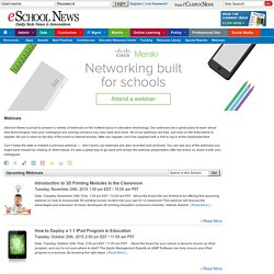 School and Education Technology Webinars