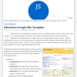 Education Google Site Template - Julie Schlafer Sharma