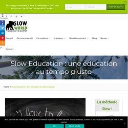 """Article """"La Slow Education"""""""