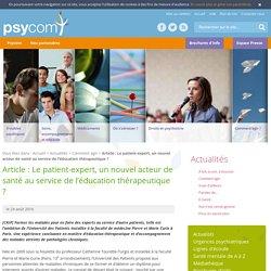 Le patient-expert, un nouvel acteur de santé au service de l'éducation thérapeutique ? - Comment agir